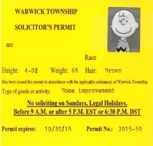 Sample Solicitation Permit