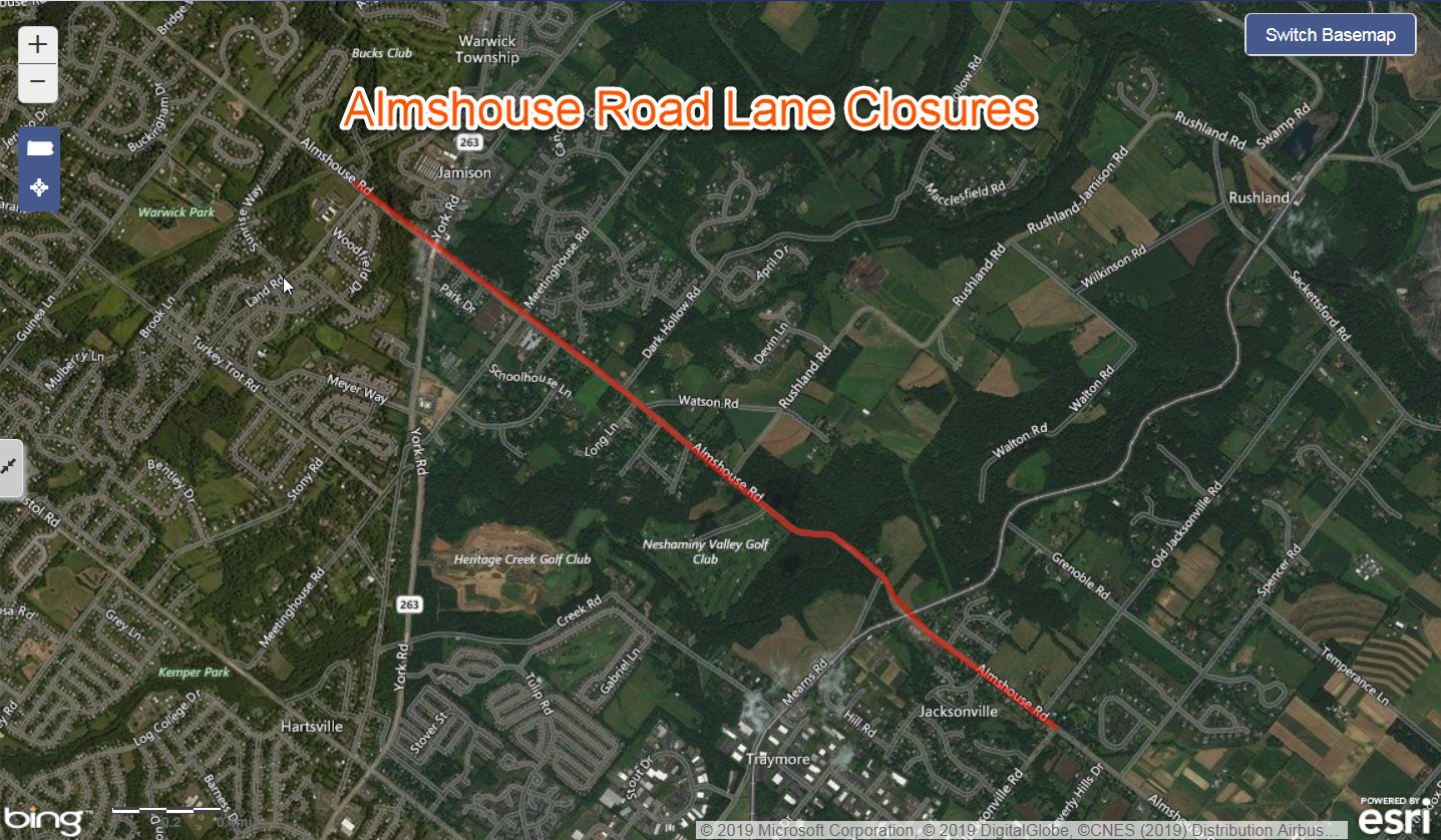 Almshouse Road Weekday Lane Closures Scheduled for